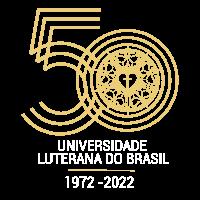 Primeira opção de selo para comemoração dos 50 anos da Ulbra