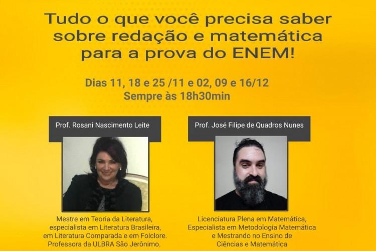 Rosani Nascimento Leite e José Filipe Nunes ministrarão os encontros virtuais