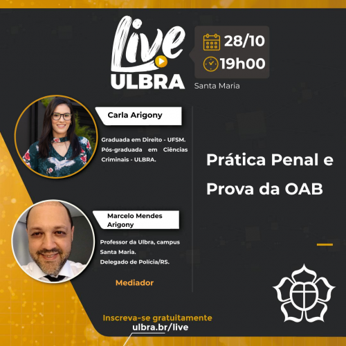 Carla Arigony:  Graduada em Direito - UFSM. Pós-graduada em Ciências Criminais - Ulbra.