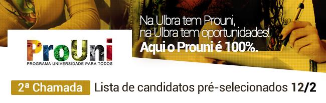 Prouni | Pr�-selecionados 2� chamada