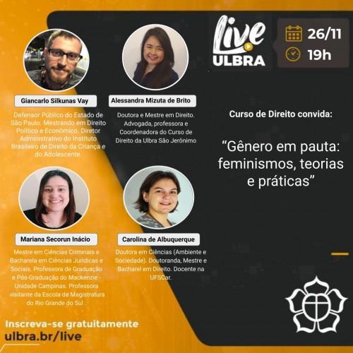 Palestrantes: Giancarlo Silkunas Vay; Alessandra Mizuta de Brito; Mariana Secorun Inácio e Carolina de Albuquerque.