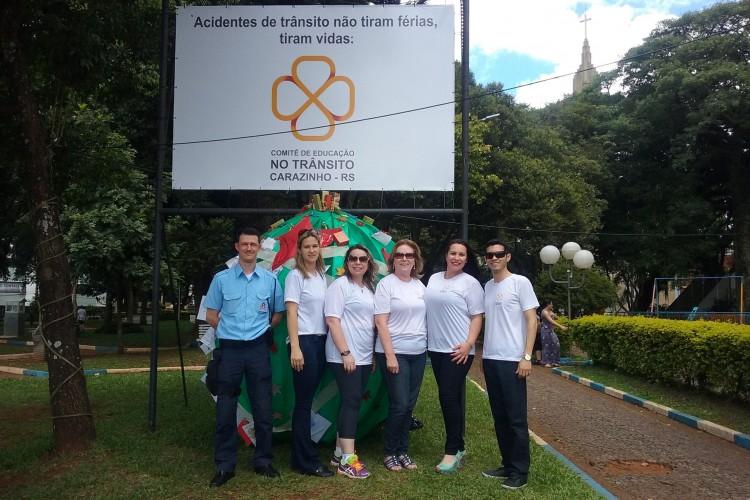 Representantes do Comitê de Educação no Trânsito da cidade de Carazinho