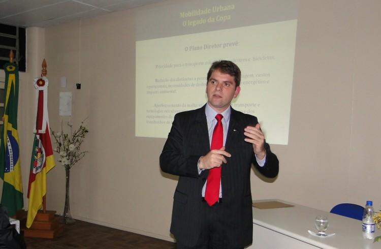 Vereador exlicou as estratégias de mobilidade previstas no Plano Diretor do município